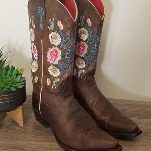 Anderson Bean Boots Macie Bean Floral 8.5